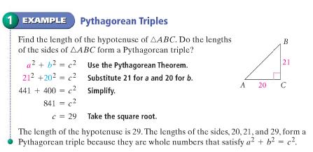 Pythagorean triples presentation.